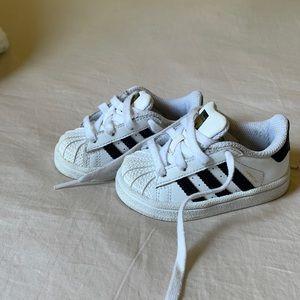 Adidas superstar size 4 babies